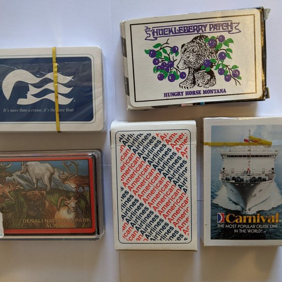 Playing Cards SEALED Lot Cruises Parks Souvenirs